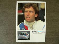 AUTOGRAMMKARTE CHRISTIAN DANNER DTM 1990 #32 BMW M3 SCHNITZER BMW M TEAM NEUW.