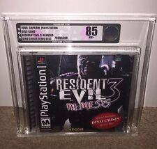 Resident Evil 3: Nemesis VGA 85! BLACK LABEL W/ DINO CRISIS Sony Playstation PS1