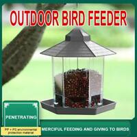 Bird Feeder Seed Nut Garden Feeding Station Birds Seed Dispenser Hanging UU K