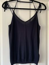 Whistles Navy Cotton Knit Strappy Vest Size M New With Tag £65