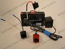 POWER WHEELS UNIVERSAL RE-PLUG KIT INCLUDES 6 V BATTERY,CHARGER & 6 V  CAR PLUG