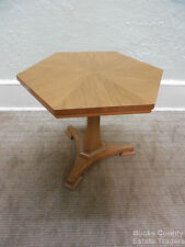 Widdicomb Mid Century Directoire Style Hexagon Shaped Pedestal End Table