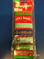 Christmas Winter Holiday Fun Party Favor Gift Toy Rubber Bracelet Cuff Bands