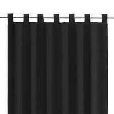 Schlaufenschal Gardine Dekoschal Fensterschal extrem blickdicht Kapstadt schwarz