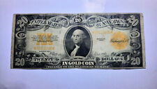 1922 $20 USA DOLLARS GOLD CERTIFICATE UNITED STATES VERY NICE NOTE CIRCULATED-C9