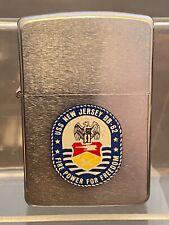 "Zippo Lighter. ""USS New Jersey BB-62 Fire Power For Freedom"".  1988. Lot F21"