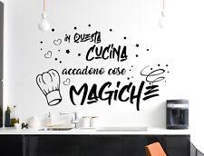 Adesivi murali frasi cucina adesivo da muro decorazione per parete wall stickers