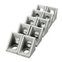 Aluminium Corner Joint Right Angle Bracket Furniture Fittings 10pcs 20x20mm