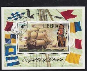 LIBERIA 1972 Sc.#C193 Sail ship VICTORY 1st rate 100 gun souv/sh 1 stamp CTO