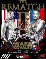 Andre Ward vs Sergey Kovalev Rematch 4LUVofBOXING Poster Boxing New