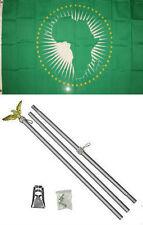 3x5 African Union Flag Aluminum Pole Kit Set 3'x5'