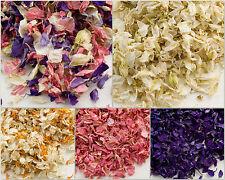 2L Wedding Biodegradable Naturally Dried Delphinium Petals Real Flower Confetti
