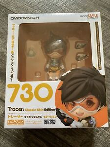 "NEW OVERWATCH NENDOROID 730 TRACER 4"" FIGURE GOOD SMILE BLIZZARD"