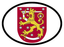 finland Coat of arms oval vinyl sticker decal bumper flag country car vehicle