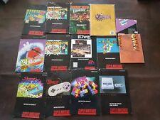 Nintendo Manual Lot
