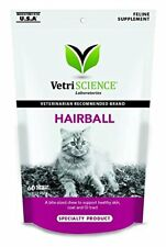 VetriScience Hairball Digestive Chews for Cats 60 Chews 3.17oz