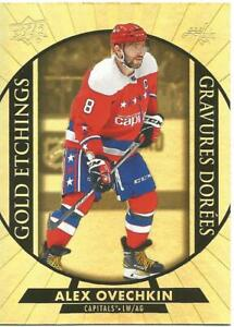 20-21 TIM HORTONS HOCKEY GOLD ETCHINGS G-10 ALEX OVECHKIN WASHINGTON CAPITALS