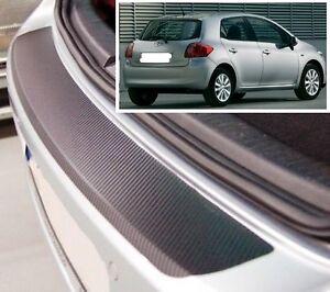 Toyota Auris Hatchback mk1-carbon style rear bumper protector