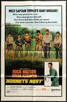 "HORNETS NEST Rock Hudson  VINTAGE 1970 ONE 1-SHEET MOVIE POSTER 27"" x 41"""