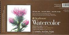 STRATHMORE 140 LB 6x12 WATERCOLOR PAPER - 12 SHEETS