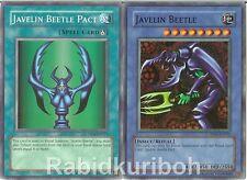 Yugioh Javelin Beetle + Javelin Beetle Pact - Set Lot - Super Rares