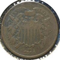 1866 2C Two Cent Piece (60706)