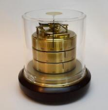 VTG BARIGO Brass Weather Station Hygrometer/Barometer/Thermometer mahogany base