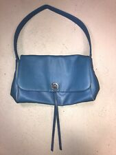 SISLEY BLUE SHOULDER BAG LEATHER PURSE