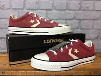 CONVERSE UK 6 EU 39 BURGUNDY SUEDE STAR PLAYER OX TRAINERS MENS YOUTH