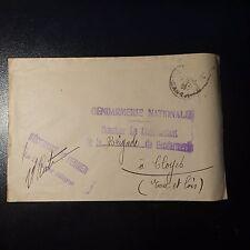 FRANCE LETTRE EN FRANCHISE COVER GENDARMERIE POUR CLOYES 1935