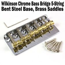 Wilkinson 5 String Chrome Bass Bridge Brass Saddles Precision Jazz WBBC BB518
