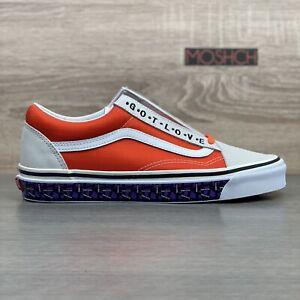 Vans x Patta Old Skool 36 DX UK 9 True White Flame Orange Suede Got Love For All