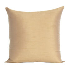 Cover Solid Color Sofa Pillow Case Cushion Square Home Decor Brown Golden 18x18