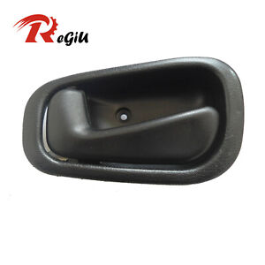 For 98-02 Toyota Corolla Chevy Inside Black Front Rear Left Side Door Handle
