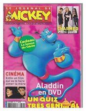 JOURNAL DE MICKEY 2729 TBE avec fiches avec photo poster CHARMED