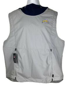 Nike On Field NFL LA Chargers Hooded Sleeveless Pullover Men's XXL AO4329-007