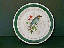 "Vintage 10.5"" Porcelain Bird Plate Abelharuco or Bee Eater~Portugal"