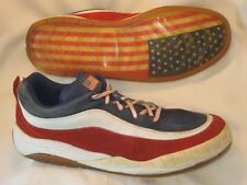 Customatix Leather Sneakers Ugly Shoes Mens Sz 14  USA American Flag