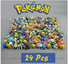 24 Pokemon Action Figures Cake Toppers Pikachu Decoration Topper Mini Décor New