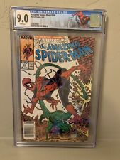 Amazing Spider-Man #318 CGC 9.0 Limited NY City Label Newstand Todd McFarlane