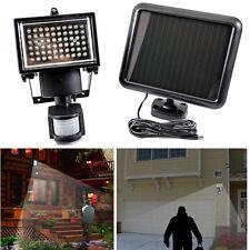 60LED Rechargeable Solaire Capteur Infrarouge Lampe Spot Mouvement Sécurité