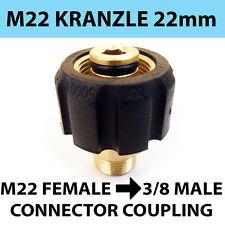 Kranzle tipo M22 Donna filettatura 22mm a 3/8 maschio Connettore di accoppiamento a vite