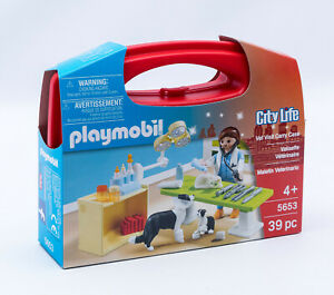 Playmobil 5653 - City Life - Tierarzt im Mitnehmköfferchen mit Figuren NEU / OVP