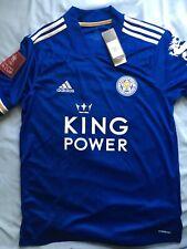 Leicester City Football Club Adidas 2020/21 Home Shirt Fa Cup Badge Bnwt