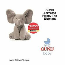 """Animated Flappy the Elephant Plays peek-a-boo,Sings """"Do Your Ears Hang Low"""" 12"""""""