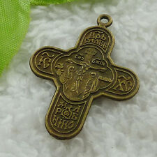 free ship 76 pieces bronze plated cross charms 36x27mm #3205