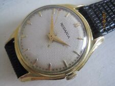 Vintage Deco 50s Rodania Gold Plated Gent's Automatic Watch with Scalloped Lugs.