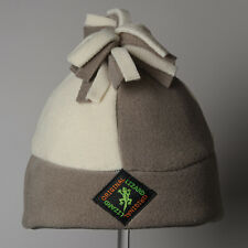 Andean Fleece Outdoor Hat - Winter White and Cappuchino