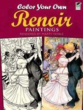 Dover Art Coloring Book Color Your Own Renoir Paintings by Pierre Auguste Renoir