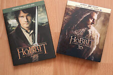TOP !!! Lot de FILMS HOBBIT - DVD COLLECTOR du HOBBIT 1 + BLUE RAY DU HOBBIT 2